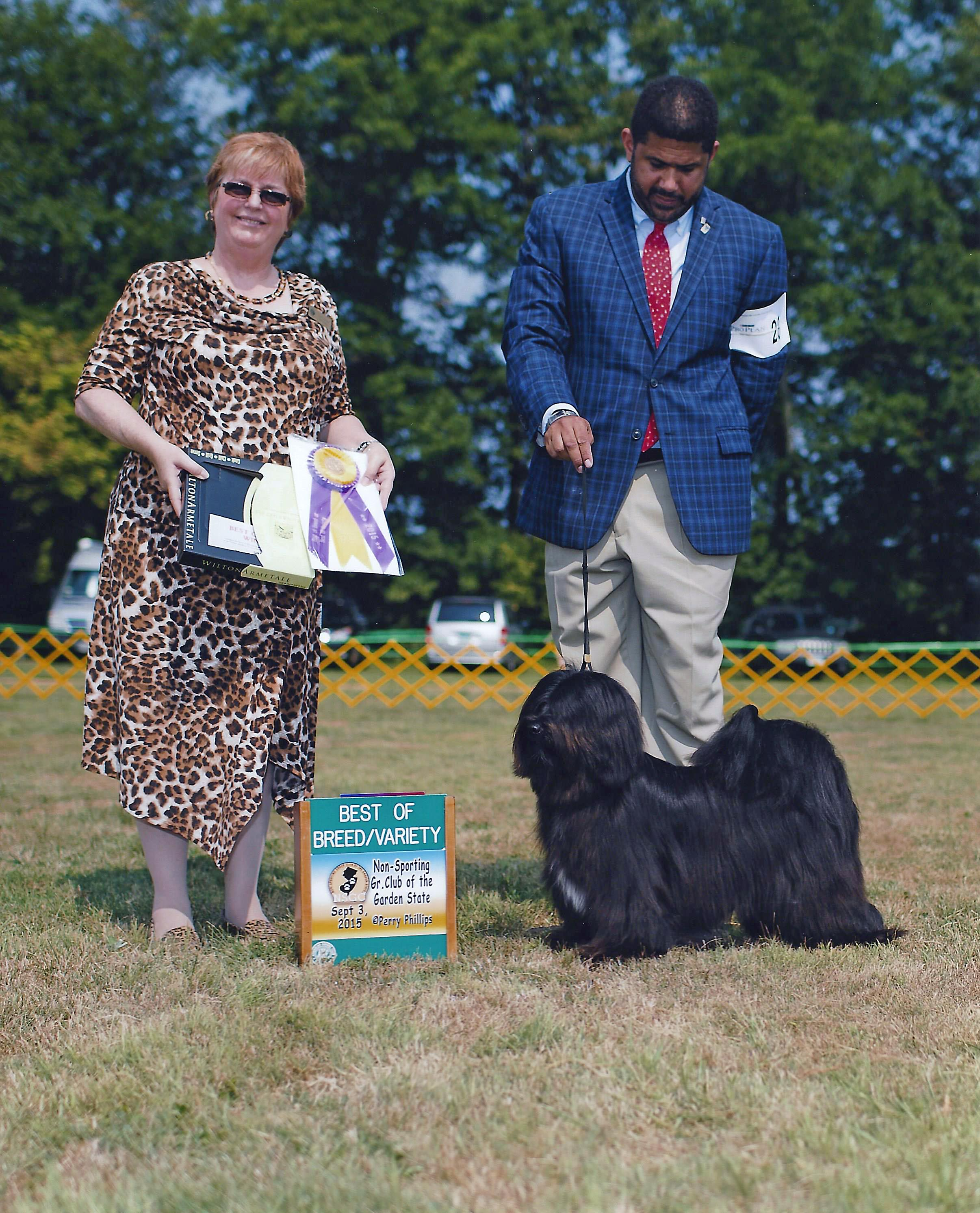 Mark Desrosiers with Ziva, Best of Breed win